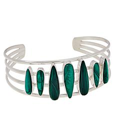 Jay King Gallery Collection Malachite 7-Stone Cuff Bracelet