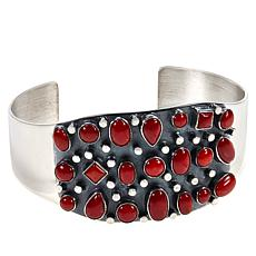 Jay King Gallery Collection Red Coral Multi-Stone Cuff Bracelet
