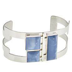 Jay King Gallery Collection Sterling Silver Blue Opal Cuff