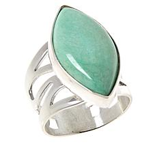 Jay King Gallery Collection Sterling Silver Variscite Marquise Ring