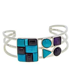 Jay King Gallery Collection Turquoise and Amethyst Cuff Bracelet