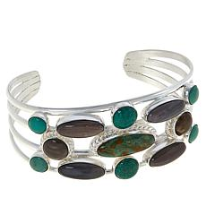 Jay King Gallery Collection Turquoise and Petrified Wood Cuff Bracelet