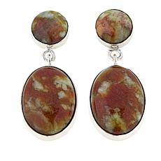 Jay King Honeycomb Serpentine Sterling Silver Earrings
