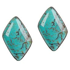Jay King Hubei Turquoise Stud Earrings