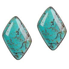 Jay King Hubei Turquoise Stud Earrings