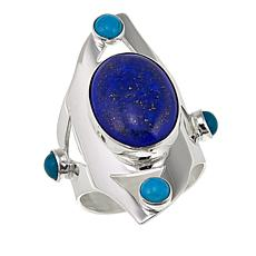 Jay King Lapis and Seven Peaks Turquoise Sterling Silver Ring