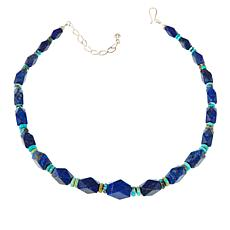 "Jay King Lapis and Turquoise Bead 18-1/2"" Necklace"