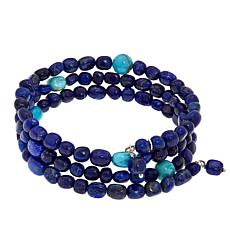 Jay King Lapis and Turquoise Bead Coil Bracelet