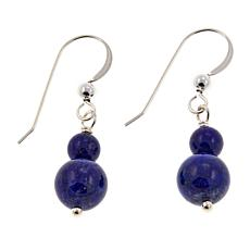 Jay King Lapis Bead Drop Sterling Silver Earrings