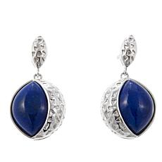 Jay King Lapis Sterling Silver Textured Drop Earrings
