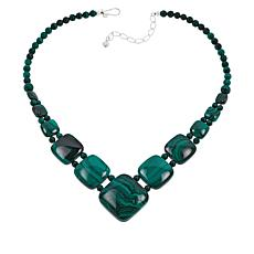 Jay King Malachite Square Station Necklace