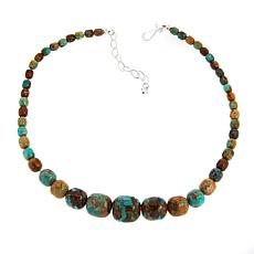 Jay King Multi-Color Golden Dragon Turquoise Bead Necklace