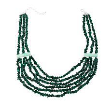 Jay King Multi-Strand Malachite and Opal Necklace