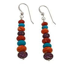 Jay King Multicolor Multigemstone Drop Sterling Silver Earrings