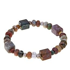 Jay King Multicolor Orbicular Stone Stretch Bracelet