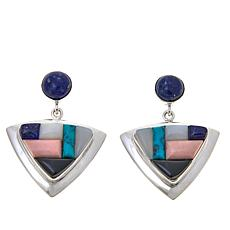 Jay King Multigemstone Inlay Drop Earrings