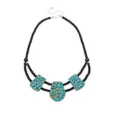 "Jay King Multigemstone Reversible 18-1/4"" Necklace"