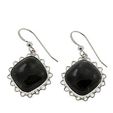 Jay King Nevada Black Jade Sterling Silver Earrings