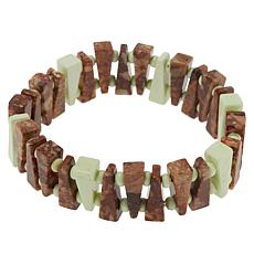 Jay King New Ocean Wave and Meadow Stone Stretch Bracelet