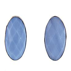 Jay King Oval Dream Blue Opal Sterling Silver Stud Earrings