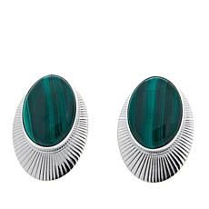 Jay King Oval Malachite Sterling Silver Stud Earrings