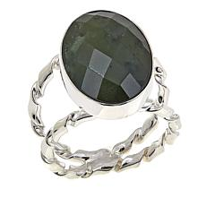 Jay King Oval Nephrite Jade Sterling Silver Ring