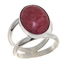 Jay King Oval Pink Thulite Sterling Silver Ring