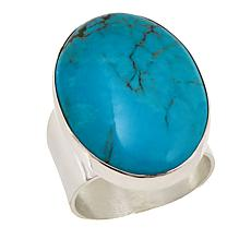 Jay King Oval Seven Peaks Turquoise Cabochon Sterling Silver Ring