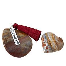 Jay King Petrified Wood 2-Stone Specimen Set