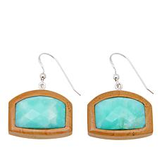 Jay King Picture Jasper and Green Opal Inlay Earrings