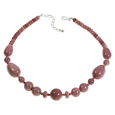 "Jay King Pink Ginger Flower Stone 20"" Necklace"