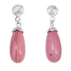 Jay King Pink Opal Drop Sterling Silver Earrings