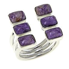 Jay King Purple Charoite Open-Shank Sterling Silver Ring