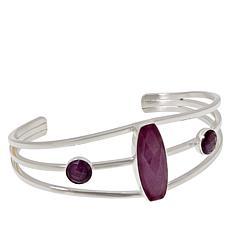 Jay King Purple Sapphire Sterling Silver Cuff Bracelet