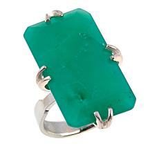 Jay King Rectangular Chrysoprase Sterling Silver Ring