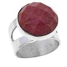 Jay King Round Checkerboard-Cut Rhodonite Ring
