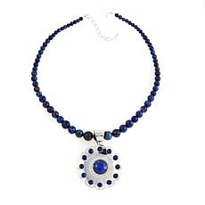 Jay King Round Lapis Pendant with Necklace