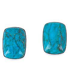 Jay King Seven Peaks Turquoise Rectangular Stud Earrings