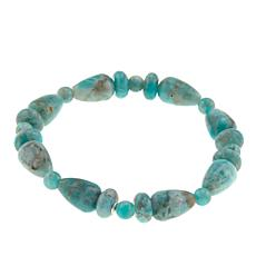 Jay King Smoky Graphical Amazonite Bead Stretch Bracelet