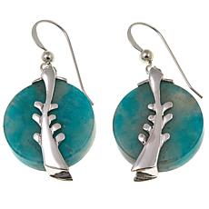 Jay King Smoky Graphical Amazonite Sterling Silver Drop Earrings