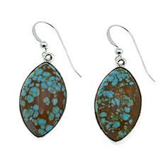 Jay King Sonoran Blue Turquoise Marquise-Shaped Silver Drop Earrings