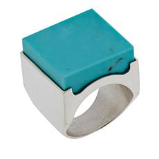Jay King Square Turquoise Block Sterling Silver Ring