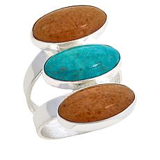 Jay King Sterling Silver 3-Stone Multi-Gemstone Ring