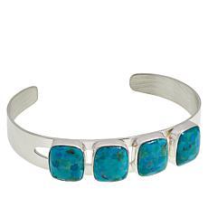Jay King Sterling Silver 4-Stone Seven Peaks Turquoise Cuff Bracelet
