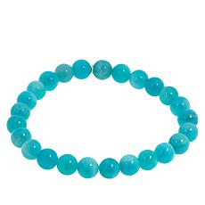 Jay King Sterling Silver Amazonite Bead Stretch Bracelet