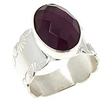 Jay King Sterling Silver Amethyst Oval Ring