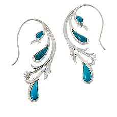 Jay King Sterling Silver Andean Blue Turquoise Earrings