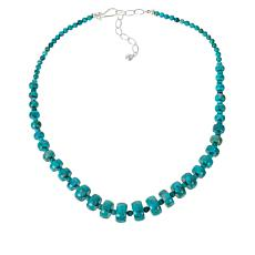 Jay King Sterling Silver Azure Peaks Turquoise Bead Necklace