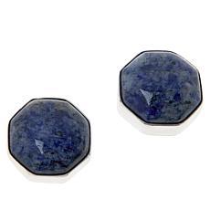 Jay King Sterling Silver Blue Regatta Stone Stud Earrings
