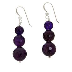 Jay King Sterling Silver Bold Amethyst Bead Drop Earrings
